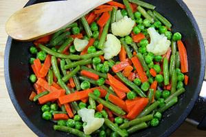 Gemüse für gesunde, hausgemachte Hundefutter