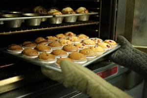 Muffins in Backofen